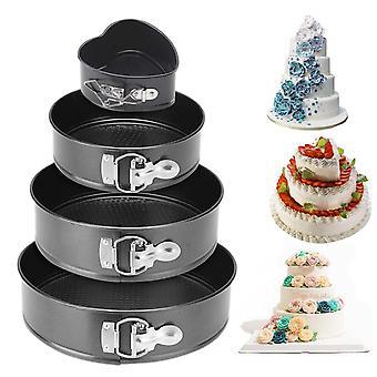 "Cheesecake Pan Cake Pannen Verwijderbare Bodem Hartvormige Cake Mold 4 "" 7 "" 9 "" 10 "" Sets"