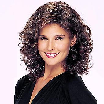 Fashion Women Short Curly Headset Wig