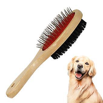 Obojstranná kefa na starostlivosť o domáce zvieratá Kefa Groomer Cat Dog Kožušina Štetina Mäkká kefa Hrebeň Upratané Denne používajte čistú voľnú kožušinu a nečistoty