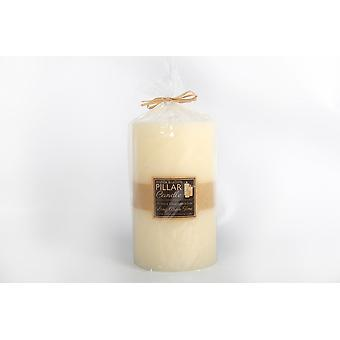 23X13.5CM HAND CRAFTED CHURCH 3 WICK WAX PILLAR CANDLE WHITE