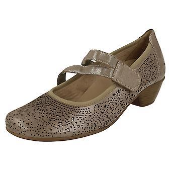 Ladies Remonte Block Heeled Shoes D5006