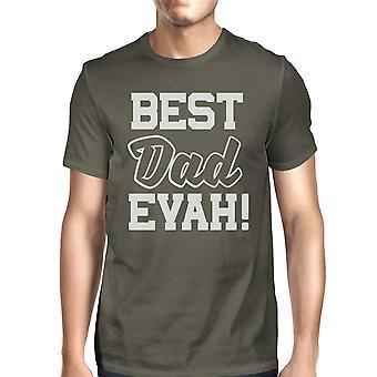 Migliore papà mai camicia per papà compleanno regali cotone grigio scuro