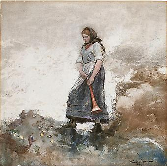Winslow Homer - Daughter of the Coast Guard Poster Print Giclee