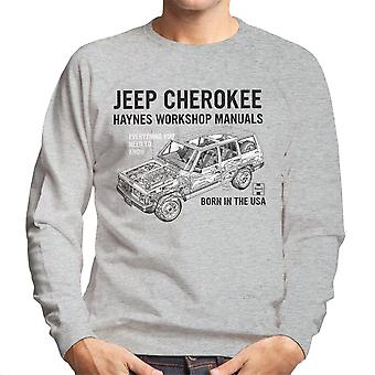 Haynes Owners Workshop Manual Jeep Cherokee Black Men's Sweatshirt