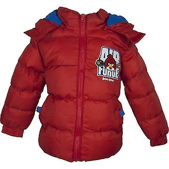 Сердитые птицы мальчиков с капюшоном куртка зимняя / пальто