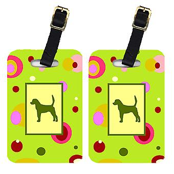 Carolines Treasures  CK1027BT Pair of 2 English Foxhound Luggage Tags