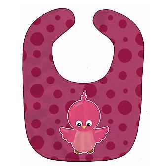 Carolines Treasures  BB7014BIB Bird on Pink Polkadots Baby Bib