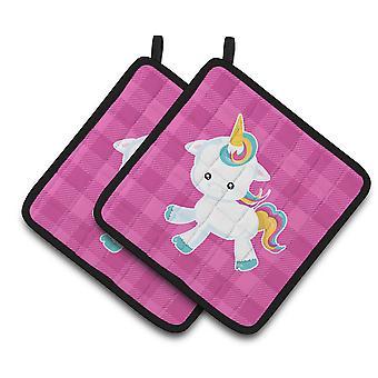 Carolines skatter BB6807PTHD Pink Plaid Unicorn par grytekluter