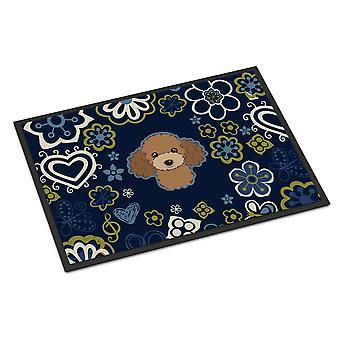 الزهور الزرقاء تابع البنى الشوكولاته الأماكن المغلقة أو في الهواء الطلق حصيرة 18 × 27