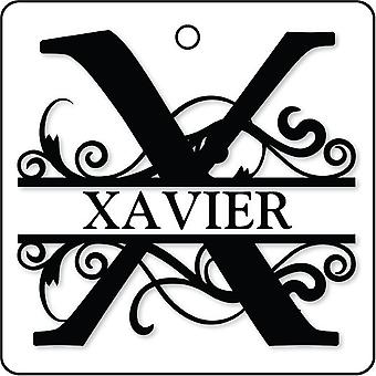 X - Custom Monogram Car Air Freshener