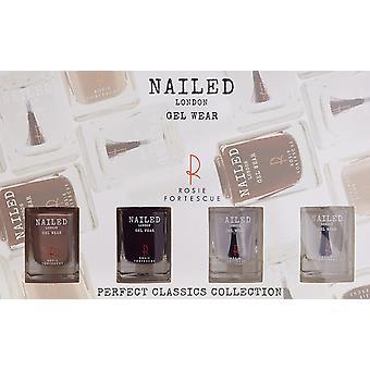Spikade London perfekt Classics Collection gåva Set 2 x 10ml nagellack + 10ml överlack + 10ml baslack