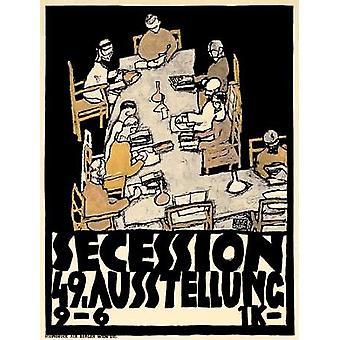 Secession49 Kunstausstellung Juliste Tulosta, jonka Egon Schiele