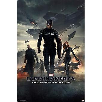 Captain America 2 Winter Soldier - One Sheet Poster Plakat-Druck