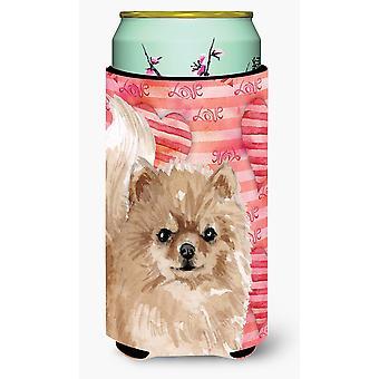 Pomeranian Love Tall Boy Beverage Insulator Hugger