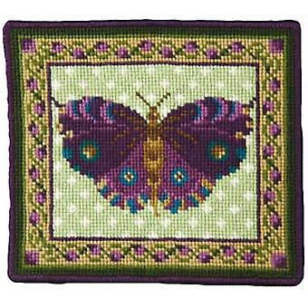 Purple Butterfly Needlepoint Canvas