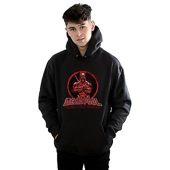 Maravilhe-se homens Deadpool passou pela braços Logo Hoodie