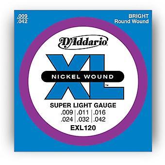 D Addario EXL120 Electric Guitar Strings - Super Light