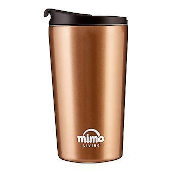 Mimo Travel Mug 250ml, Gold and Black