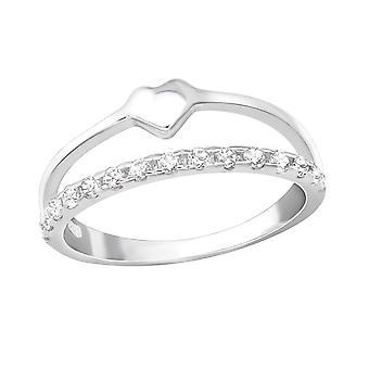 Heart - 925 Sterling Silver Rings - W36556X