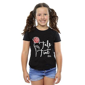 Disney Girls Tale As Old As Time Rose T-Shirt