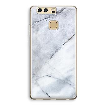 Huawei P9 gjennomsiktig sak (myk) - marmor hvit