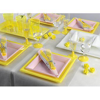 Utensílios de mesa de festa para 8 convidados 129-teilig festa pacote Primavera festa festa pacote