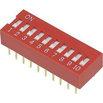 DIP-switch antal stift 10 Slide-sorts TRU komponenter DSR-10 1 dator