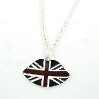 Union Jack usar collar de labios de Union Jack