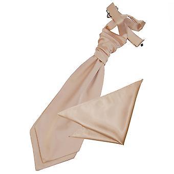 Mocha Brown Plain Satin Hochzeit Krawatte und Einstecktuch für jungen eingestellt