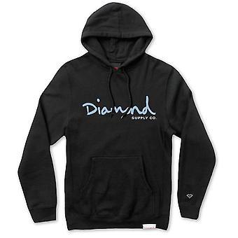 Diamante abastecimento Co OG Script Hoodie preto azul