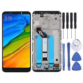 Pentru Xiaomi Redmi 5 plus de reparare display LCD unitate completă cu cadru Touch negru de înlocuire