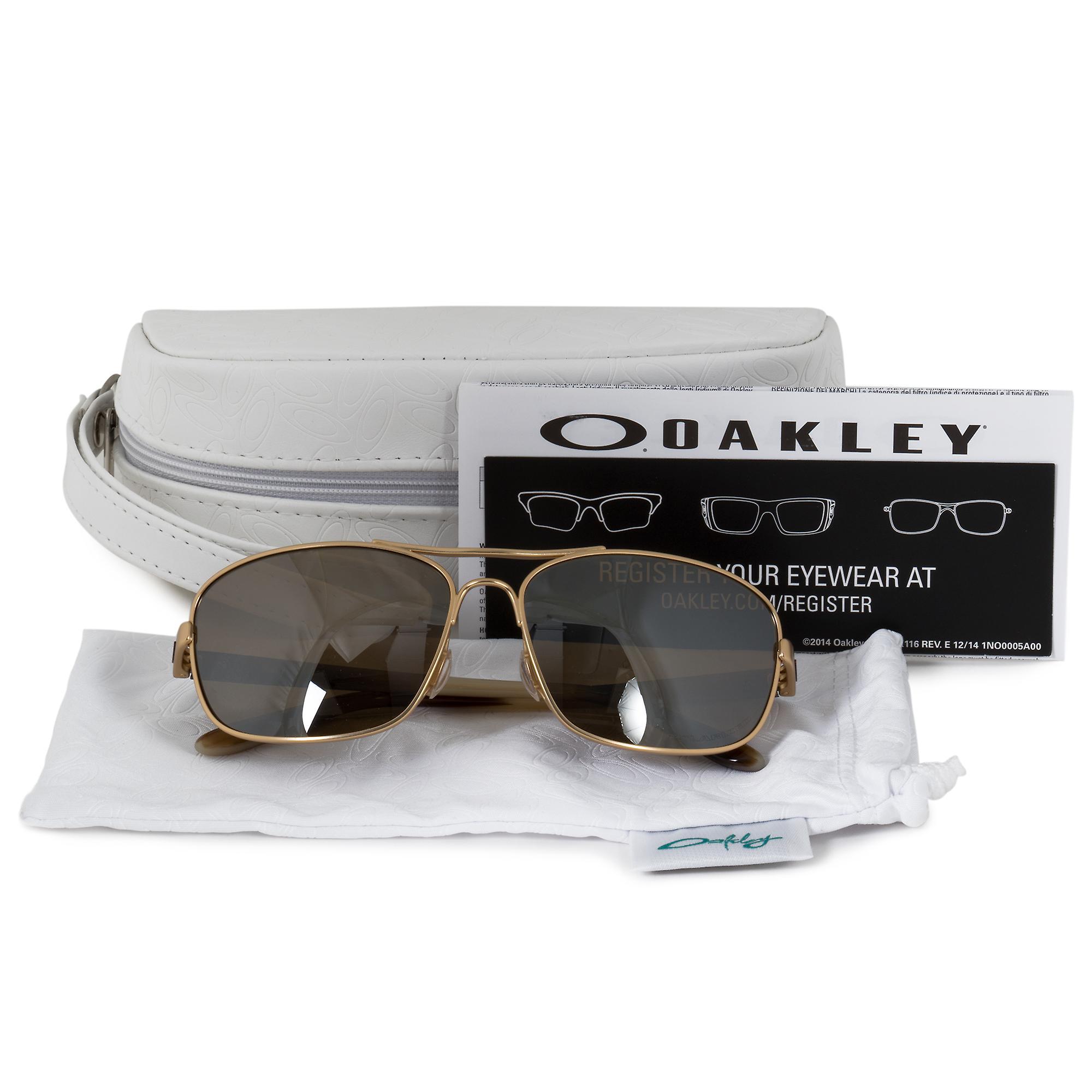 Oakley Sanctuary Square Sunglasses 0OO4116 411605 58 | Gold Frame | Polarized Brown Lenses