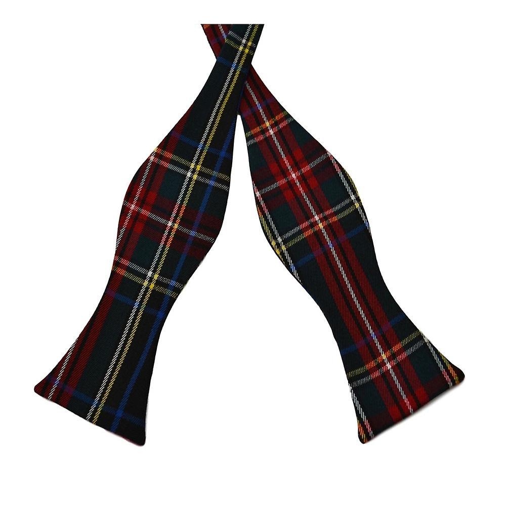 Traditional Dark Green Tartan Check Self-Tie Bow Tie, Scotland
