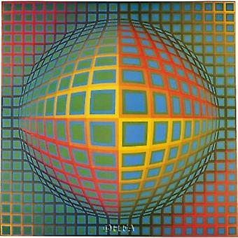 Vega-Nor Poster Print by Victor Vasarely (10 x 9)