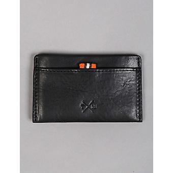Tumble and Hide Chukka Leather Slim Card Holder - Black