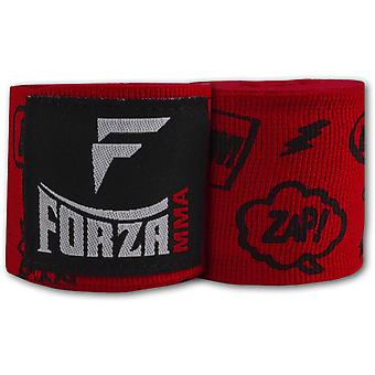 """Forza Sports 180"""" Mexican Style Boxing and MMA Handwraps - Comic Book Red"""