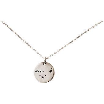 Constellation halssmykke Horoskop Steinbukken Steinbukken steinbukk 925 sølv, gullbelagt, Rose