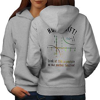 Science Math Funny Women GreyHoodie Back | Wellcoda
