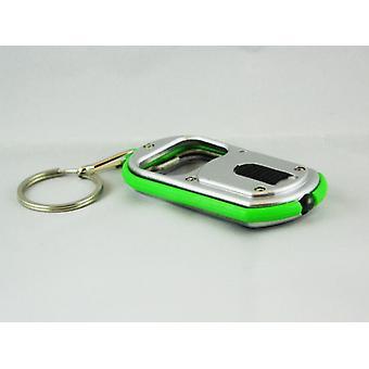 Avaimen perä/avaimen perä pullon avaaja ja LED-lamppu (vihreä)