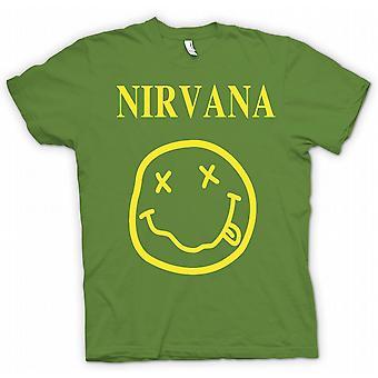 Мужская футболка-Нирвана смайлик