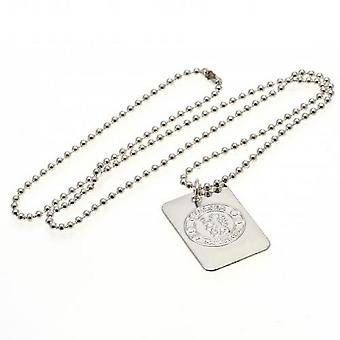 Chelsea FC Silver Plated Dog Tag And Chain