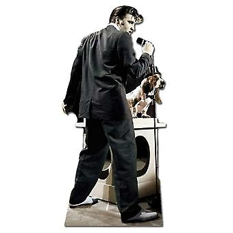 Elvis Singing With Hound Dog - Lifesize Cardboard Cutout / Standee