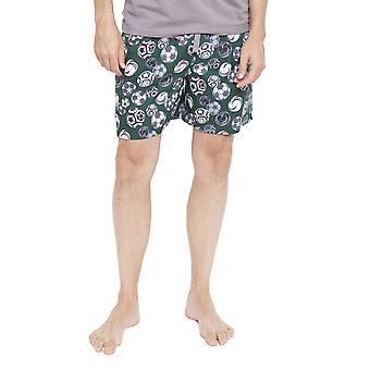 Cyberjammies 6339 Männer Alfie grau Fußball Print Pyjama kurz