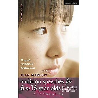 Audition anföranden för 6-16 åringar: 50 Audition bitar för skådespelare och skådespelerskor