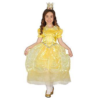 Meisjes gouden Fairytale prinses Fancy Dress kostuum
