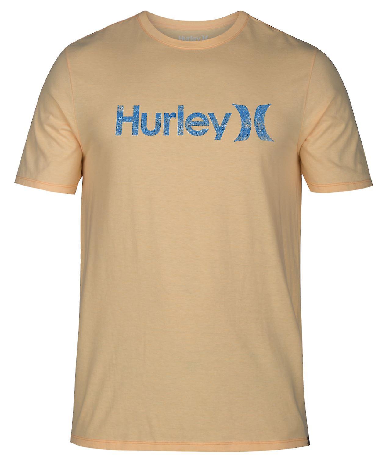 Hurley Men's T-Shirt ~ One & Only Push-Through orange