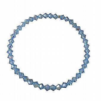 Lite Sapphire cristalli cristalli Swarovski bracciale estensibile