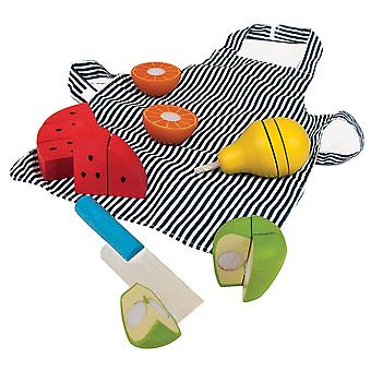 Bigjigs Toys Kids Cutting Fruit Chef Set Pretend Role Play Kitchen