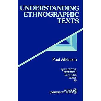 Compréhension de textes ethnographiques par Atkinson & Paul