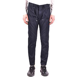 Paolo Pecora Ezbc059034 Men's Blue Cotton Pants